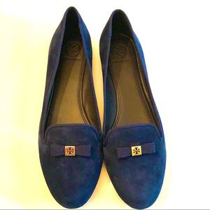 Tory Burch- Mimi Suede Loafer, Perfect Navy, 8.5